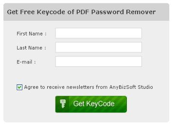 Free download of AnyBizSoft PDF Password Remover