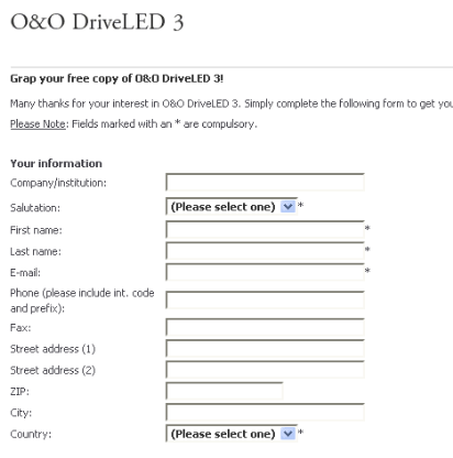 Free Download - O&O DriveLED 3 – Full Version – Activation / License Key Code