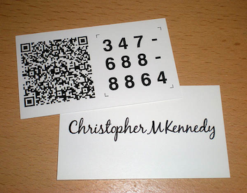 Create business card qr code generate qr code business cards available on internet which let you create qr code consisting information about you and you use that qr code to get printed on your business card colourmoves