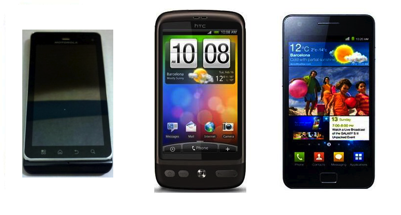 HTC Sensation vs Motorola Droid 3 vs Samsung Galaxy S II ...