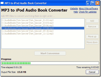 MP3 to iPod Audio Book Converter – Play Audiobooks On iPod / iPhone / iPod Touch