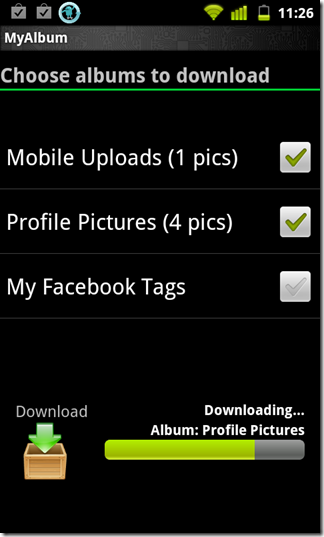 Download Facebook Photo Album On Android - MyAlbum For