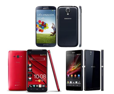 HTC Butterfly vs Samsung Galaxy S4 vs Sony Xperia Z - Compare Specs