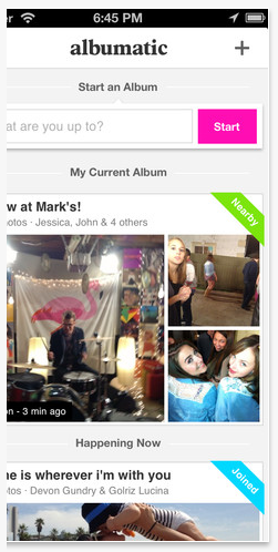 share photos in real time in an online album
