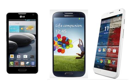 Moto X vs LG G2 vs Samsung Galaxy S4 - Specs Compare