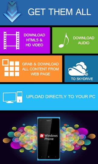 GetThemAll - Download YouTube Videos On Windows Phone