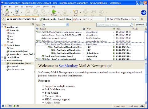 SeaMonkey – Manage Web browser, E-mail, Newsgroups, IRC Chat