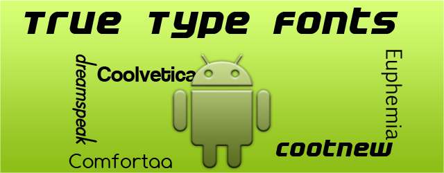 how to change the font style in android
